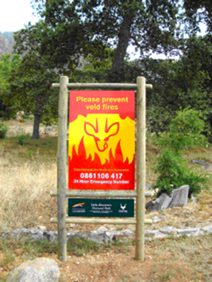 Cape Peninsula Fire PRotection Association Signage Awareness Project